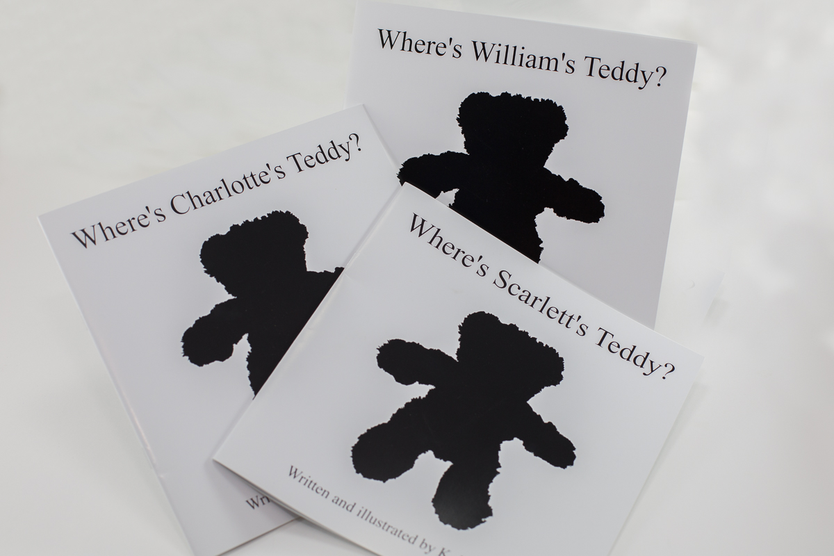 Three versions of 'Where's My Teddy?' A personalised book for newborns to give your baby the best start in life